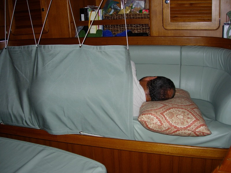 Moonstruck belowdeck saloon nav station galley for Most comfortable couches for sale